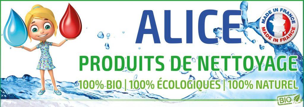 Bannière Alice Bio - Produits de nettoyage